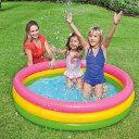 ビニールプール 丸型プール 140cm 家庭用 プール エアープール 円形 幼児プール 子供用 キッズ 大型 ベビープール ベ…