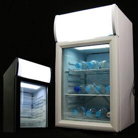 冷蔵庫 1ドア 40L小型 一人暮らしにもおすすめ 冷蔵ショーケース 業務用白 黒 透明 ディスプレイ コンプレッサー式 40L ノンフロン 右開き 送料無料 お宝プライス ###冷蔵庫/SC40B###