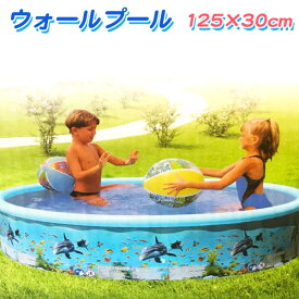 ビニールプール 丸型プール ウォールプール 家庭用 プール 120cm 小型 子供用 安全 水遊び インスタ映え SNS おしゃれ 送料無料 ###プール100124###