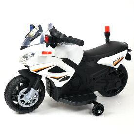 電動乗用アメリカンポリスバイク 乗用玩具 子供用 補助輪付き 充電式 ライト点灯 サイレン付き 安心 安全 送料無料 ###乗用バイクBJC911###