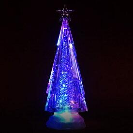スノーツリー LEDウォーターツリー クリスマスツリー ミニツリー 卓上 ツリー イルミネーション LEDライト トップスター クリスマスライト モチーフライト 送料無料 ###ツリーWDL-1856###