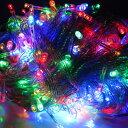 イルミネーション LED ライト ストレート 100球 屋外 室内 防水 連結可 クリスマス ハロウィン 飾りつけ 送料無料 お…