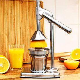 ハンド ジューサー 果汁絞り器 手動式 ジューサー ステンレス製 果汁 手作り ジュース 絞り器 フレッシュジューサー 送料無料 ###ジューサーZZJ-1###