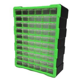 パーツボックス ツールボックス 工具箱 パーツケース 引き出し 60個 小物収納 キャビネット 送料無料 お宝プライス ###工具箱PB003緑###