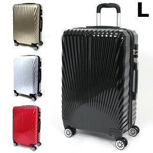 スーツケース キャリーバッグ キャリーケース Lサイズ 80L TSAロック付 4輪 ダブルキャスター 超軽量 大型 鏡面加工 光沢 7泊〜 送料無料 ###ケース227-L###