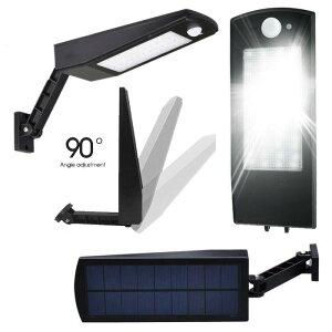 LED センサーライト ソーラーライト 48LED LEDライト 屋外 壁掛け照明 電池交換不要 照明 防犯 玄関 壁掛け ガーデン 停電 非常用 防災 送料無料 ###ライト374-48SMD###