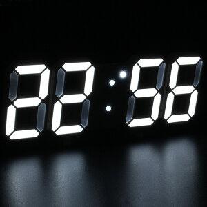 3D LED 時計 置き時計 壁掛け時計 掛け時計 デジタル時計 インテリア 目覚まし アラーム 時間 時刻 日付 温度 調光 省エネ おしゃれ かわいい ギフト プレゼント 北欧 送料無料 ###時計3D-GQZ-###