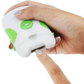 電動爪削り LEDライト付き 電動やすり 電動爪やすり 爪削り ネイルケア 爪削り 爪磨き 爪やすり 電動 介護 送料無料 ###爪トリマS1007-GR###