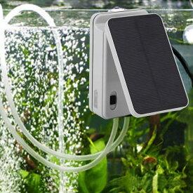 ソーラー充電式 エアポンプ エアーポンプ 空気ポンプ 生活防水 電動 蓄電 酸素 ポンプ 太陽光充電 小型 静音 アウトドア クーラーボックス 水槽用 ブクブク ぶくぶく ソーラー 金魚 釣り 携帯 USB バッテリー エアレーション 送料無料 ###ポンプBAN-AP002###