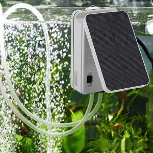 ソーラー充電式 エアポンプ エアーポンプ 空気ポンプ 生活防水 電動 蓄電 酸素 ポンプ 太陽光充電 小型 静音 アウトドア クーラーボックス 水槽用 ブクブク ぶくぶく ソーラー 金魚 釣り 携