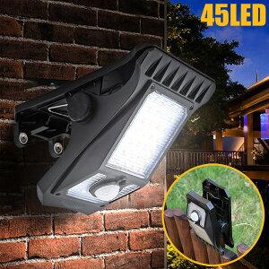 LEDライト クリップライト ソーラーライト クリップ ソーラー 充電式 人感センサー スポットライト LEDスポットライト コードレス 自動点灯 防水 屋外 LED ライト 照明 明るい クリップ式 壁掛