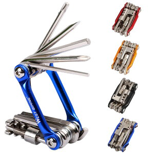自転車工具セット ミニ 多機能 11種類 工具 マルチツール 携帯 ロードバイク 自転車 工具 アクセサリー 便利 バイク バイク修理 メンテナンス DIY ###自転車工具JRQ-###