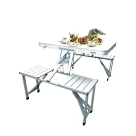 アウトドアテーブル 折りたたみ アルミ 折り畳み式 テーブル アウトドア ガーデンテーブル&チェアー セット レジャーテーブル キャンプ バーベキュー 海水浴###テーブル1135###
