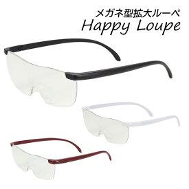 拡大鏡 ルーペ メガネ メガネ型ルーペ 拡大率1.6倍 紫外線カット ブルーライトカット###拡大鏡RP803###