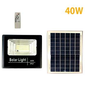 充電式LEDソーラーライト投光器 40W 屋外 IP65防水仕様 太陽光発電 リモコン付き 防災 停電###ソーラライトD-40W◆###