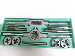 タップダイス SET 40PC ボルト ナット 修復 ###タップダイス12PC緑###