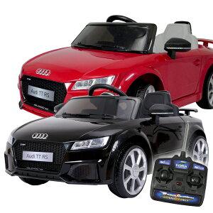電動乗用カーAudiTTRSアウディ正規ライセンス充電式プロポ付き乗用玩具送料無料###乗用カーJE1198###