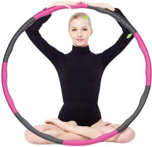 フラフープ ダイエット 組み立て式 大人用 子供用 お腹 引き締め 骨盤矯正 くびれ 腹筋 下腹部 エクササイズ 組み立て 運動 便秘解消 ウエスト 腕のシェイプアップ 有酸素運動 簡単 初心者