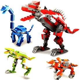 恐竜 ブロック プラモデル パズル ダイナソー かっこいい 子供 キッズ 知育玩具 プレゼント ギフト おもちゃ 子供 玩具 ティラノサウルス トリケラトプス ブラキオサウルス 送料無料 ###恐竜プラモ81618-###