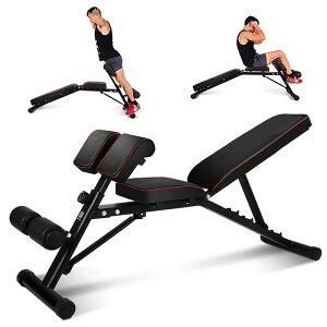 インクラインベンチ シットアップベンチ 5段階角度調節 折りたたみ トレーニング 腹筋 背筋 筋トレ ダイエット エクササイズ ダンベル バーベル ベンチ チンニング 送料無料 ###腹筋ベンチ039