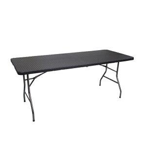 ラタン調 ガーデンテーブル アウトドアテーブル 折り畳み式 頑丈 大型180×75cm 防水 長テーブル 北欧風 送料無料/###籐机YS-R180###
