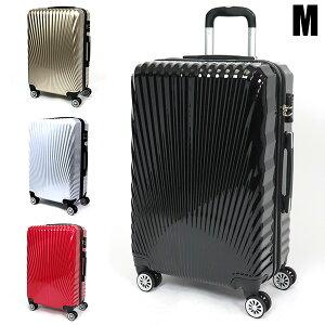 スーツケース キャリーバッグ キャリーケース Mサイズ 50L TSAロック付 4輪 ダブルキャスター 超軽量 中型 鏡面加工 光沢 4〜6泊###ケース227-M###