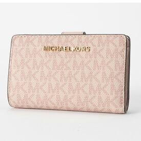 マイケルコース 財布 二つ折財布 ブラウン バニラ 35F8GTVF2B BALLET