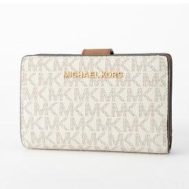 マイケルコース 財布 二つ折財布 ブラウン バニラ 35F8GTVF2B Vanila