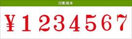 テクノタッチ回転印欧文8連(明朝体)初号