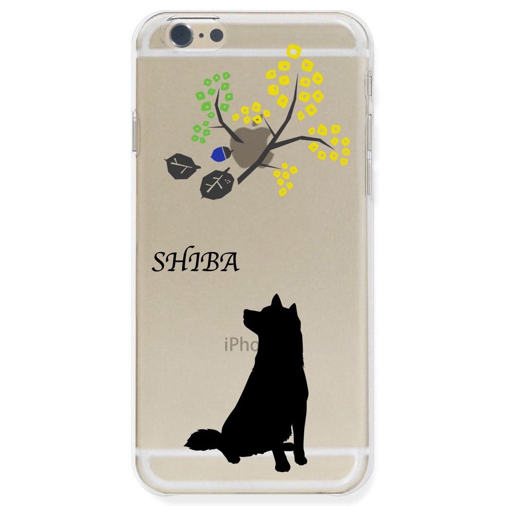 iPhone6S Plus ケース ハードケース クリア ポリカーボネイト ドッグ 柴犬 北欧風