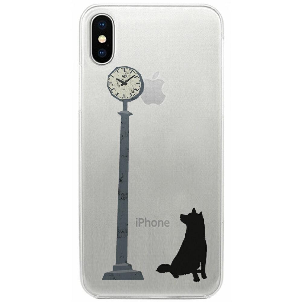 【メール便可】 iPhone X ケース ハード pc カバー クリアケース ドッグ 時計を気にする柴犬   iPhoneケース iPhoneカバー x ドッグ クリア iphonexケース iphonexカバー かわいい x iphonex 雑貨 アイフォン アイフォンxケース アイフォーン アイフォーン