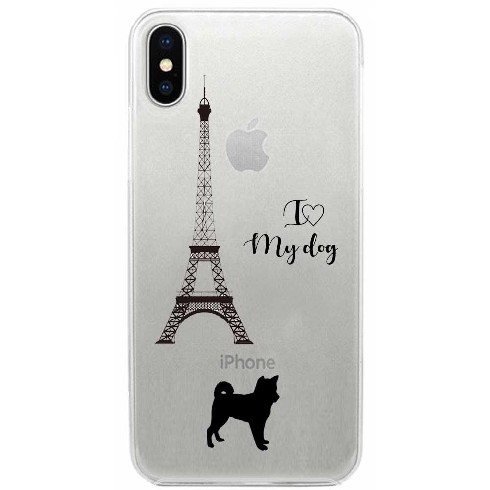 【メール便可】iPhone X ケース ハード pc カバー クリアケース Dog in Paris 柴犬   iPhoneケース iPhoneカバー x ドッグ クリア iphonexケース iphonexカバー かわいい x iphonex 雑貨 アイフォン アイフォンxケース 犬 ドッグ ペット