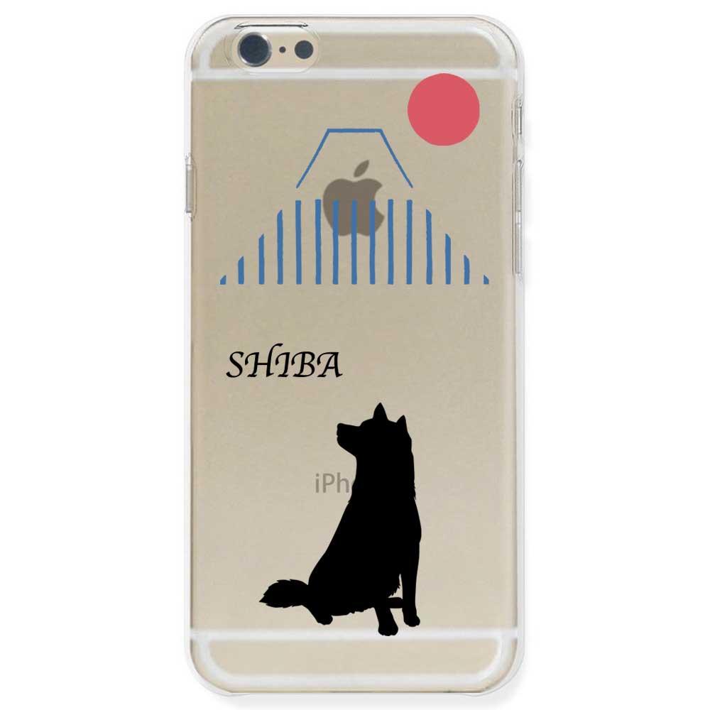 【定形外郵便で送料無料】iPhone6S/6, iPhone6s/6 Plus, iPhone5s ケース ハードケース クリア ポリカーボネイト ドッグ 柴犬 日本風