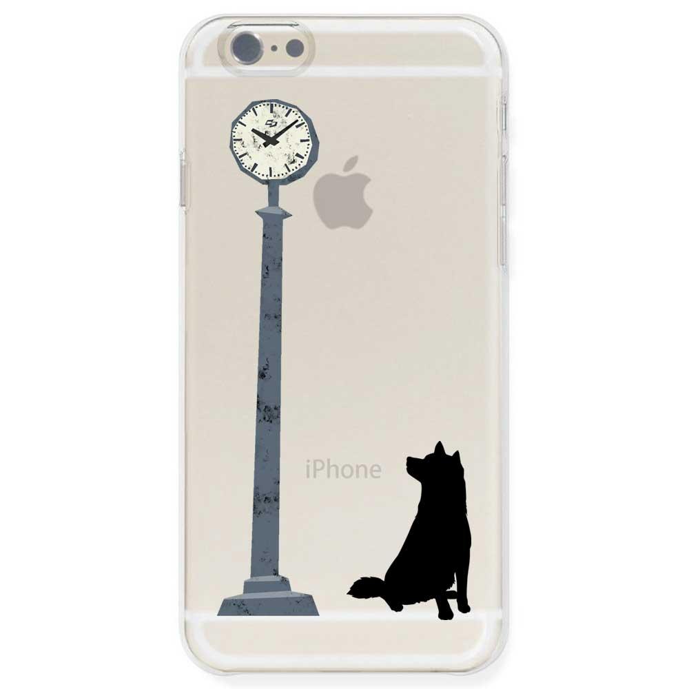 iPhone6s / iPhone6 ケース TPU ソフト クリアケース 半透明 ドッグ 時計を気にする柴犬