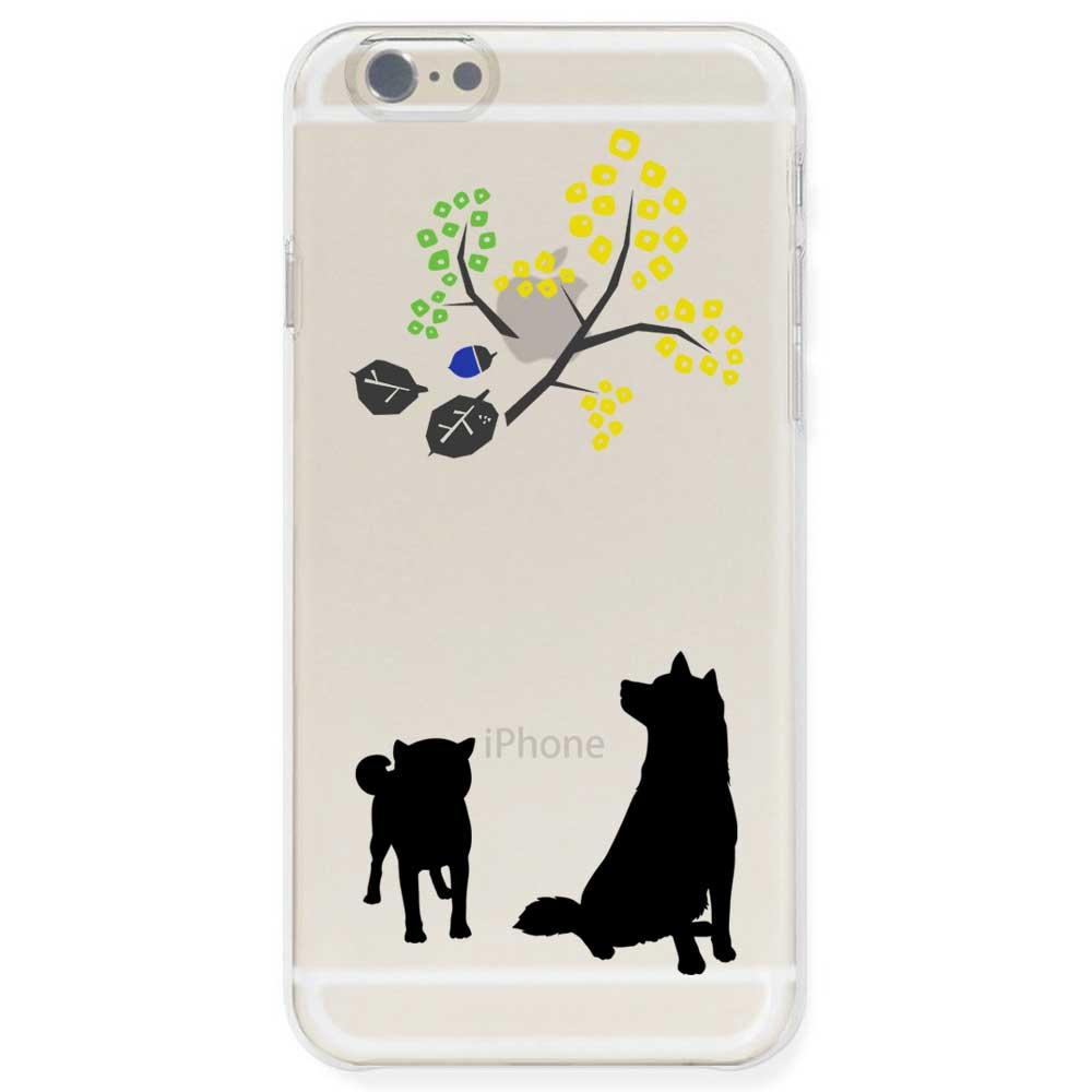 iPhone6s / iPhone6 ケース TPU ソフト クリアケース 半透明 ドッグ 柴犬親子 北欧風
