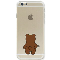 iPhone6カバーハードケースポリカーボネイトクリアケースぽりぽりくまさん