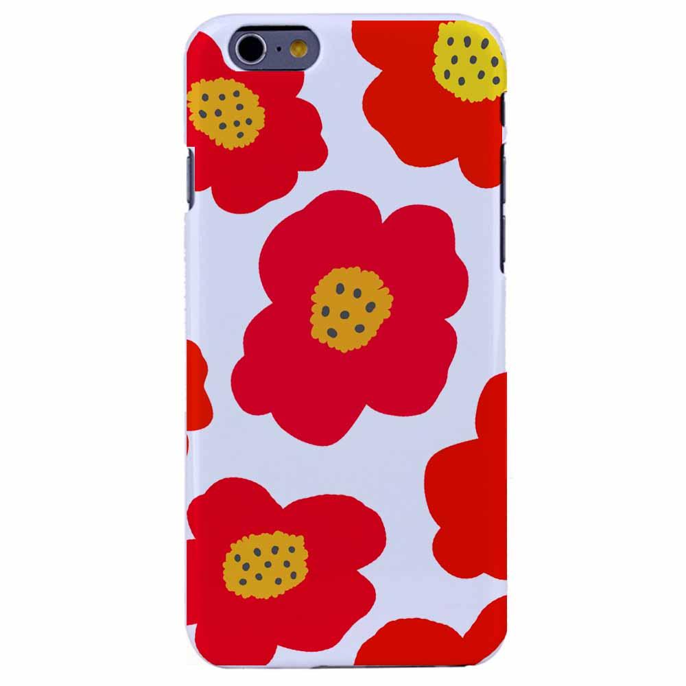 送料無料 iPhone6Sケース iPhone6 Plus カバーiPhoneケース アイフォン6ケースiphoneケース アイフォン ブランド iphoneカバー スマホケース ポリカーボネイトPCケース ハードケース アイホン アイホン6 ケースiPhone6S ケース ホワイト 北欧デザイン 花柄レッド
