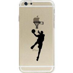 iPhone6sケースストラップホール付きハードケースポリカーボネイトクリアチョイ足しバスケシュート