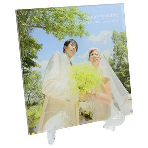 アクリルフォトプリント 30x30x1cm  子ども 写真 プリント 名入れ アクリル キューブ フォト フレーム 誕生日 出産祝 ウェディング 記念品 結婚式 ギフト