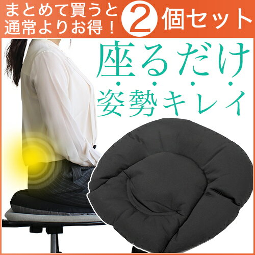 MARNA マーナ 骨盤座ぶとん 2個セット ブラック オフィス用【宅急便】