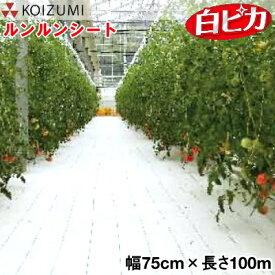KOIZUMI (小泉製麻) 防草シート ルンルンシート 白ピカ 幅75cm×長さ100m