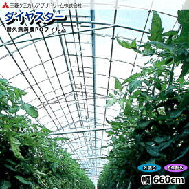 耐久無滴農POフィルム ダイヤスター 厚さ0.15mm 幅660cm (1m単位切売り)