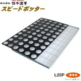 育苗ポット連続土詰器 スピードポッター L25P(7.5cm丸型ポット用) 標準穴タイプ