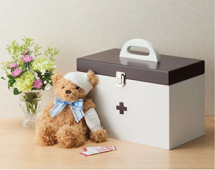 木製のかわいい 救急箱 大 イシグロ 60055 木製 救急箱 かわいい おしゃれ 【はこぽす対応商品】【コンビニ受取対応商品】
