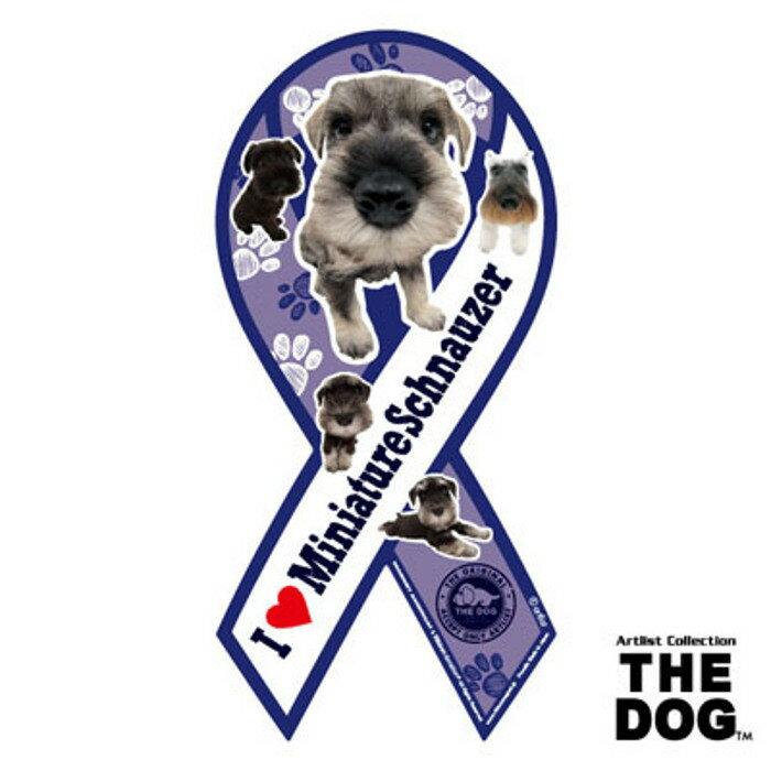 リボンマグネット THE DOG(ザ・ドッグ)ミニチュアシュナウザー 【メール便発送】【送料込】マグネット リボン ステッカー