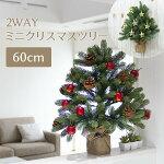 クリスマスツリー60cm壁掛け可能北欧ドイツトウヒミニクリスマスツリーヌードツリーおしゃれ2018【おとぎの国】