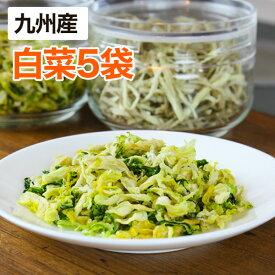 【メール便】 乾燥野菜 白菜 【5個セット】 25g(生野菜420g相当)九州産野菜 安心安全国産 長期保存が可能なエアドライタイプ 非常食や保存食として