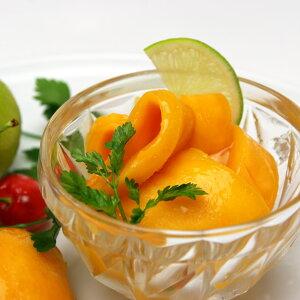 マンゴー(木成り完熟)ハーフカット1Kg最高水準カラパオマンゴー冷凍マンゴー冷凍フルーツ冷凍果物