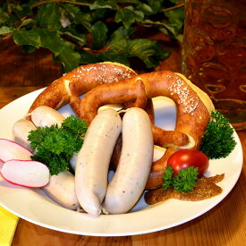 「送料無料」白いドイツソーセージ・ヴァイスヴルスト 4本 1パック(冷凍) ヴァイスブルスト バイスブルスト