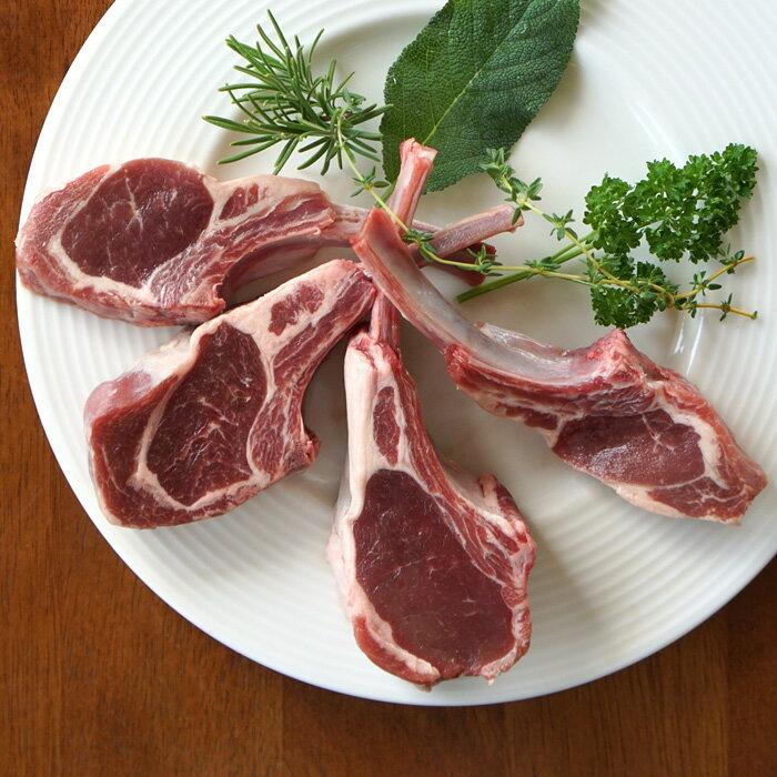 仔羊(冷凍ラム)骨付きチャップ 4本入り(冷凍)ラムチョップ ラム肉 約260g 放牧ラム バーベキュー